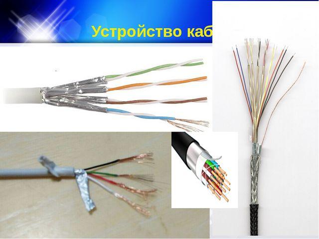 Устройство кабеля