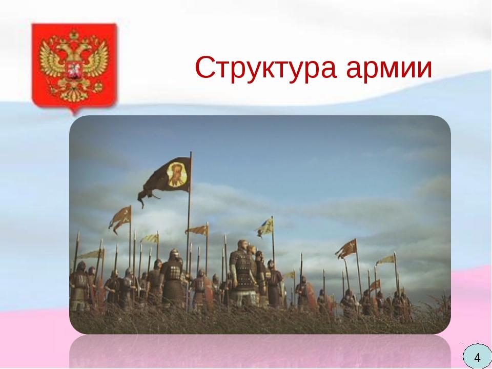 Структура армии Во второй половине XV века армия стала делиться на полки. Для...