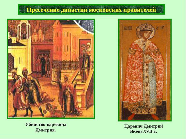 Убийство царевича Дмитрия. Пресечение династии московских правителей Царевич...