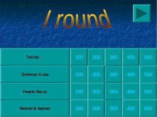 200 300 300 300 300 Nearest & dearest People like us Grammar in use Tell me …