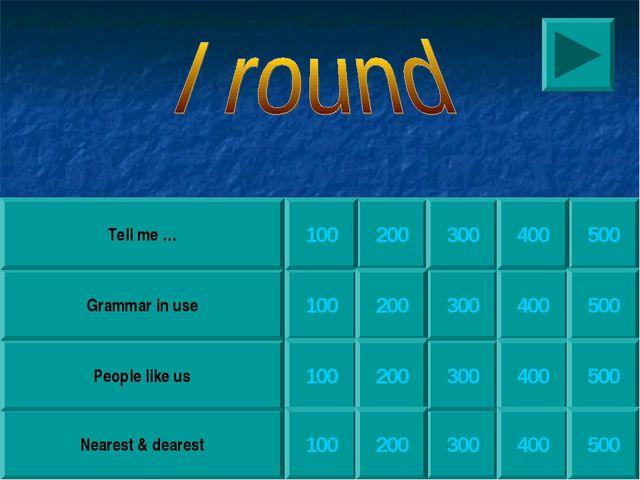 200 300 300 300 300 Nearest & dearest People like us Grammar in use Tell me …...