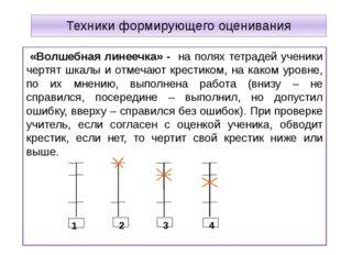 Техники формирующего оценивания «Волшебная линеечка» - на полях тетрадей учен
