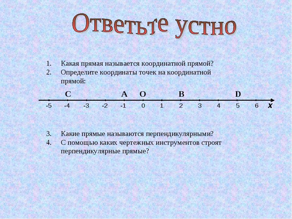 Какая прямая называется координатной прямой? Определите координаты точек на к...