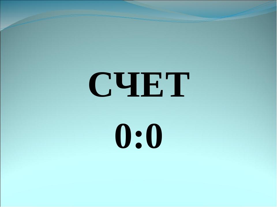 СЧЕТ 0:0