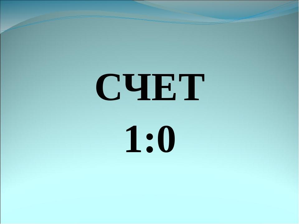 СЧЕТ 1:0