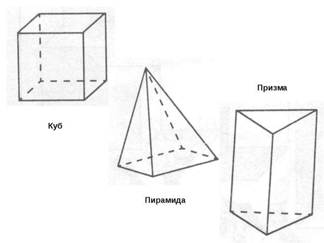 Куб Пирамида Призма