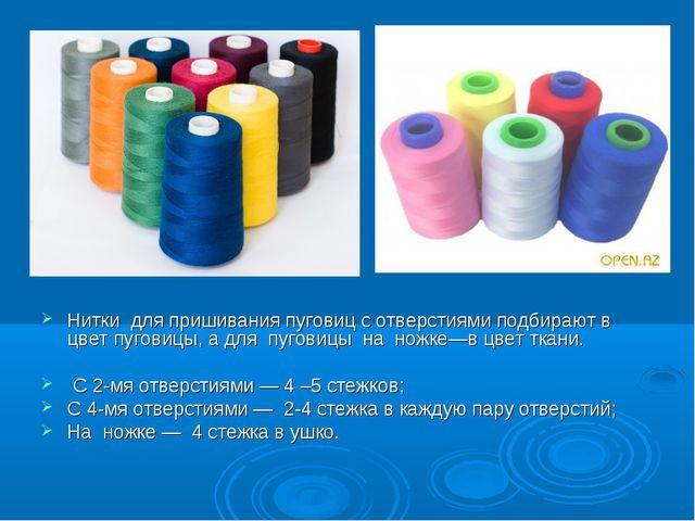 Нитки для пришивания пуговиц с отверстиями подбирают в цвет пуговицы, а для...