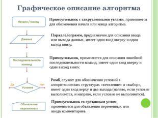 Графическое описание алгоритма Прямоугольник с закругленными углами, применяе