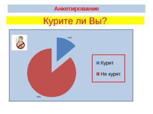 Анкетирование Курите ли Вы?