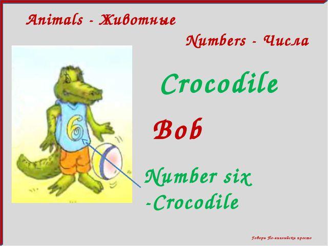 Animals - Животные Говори По-английски просто Numbers - Числа Crocodile Numb...
