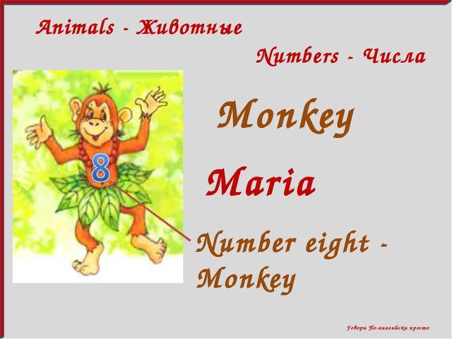 Говори По-английски просто Animals - Животные Numbers - Числа Monkey Maria N...