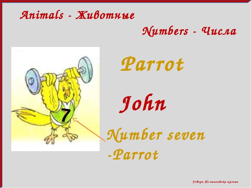 Говори По-английски просто Animals - Животные Numbers - Числа Parrot John Nu...