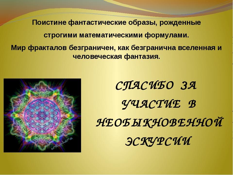 Поистине фантастические образы, рожденные строгими математическими формулами....