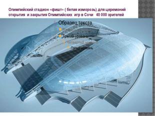 Олимпийский стадион «фишт» ( белая изморозь) для церемоний открытия и закрыти