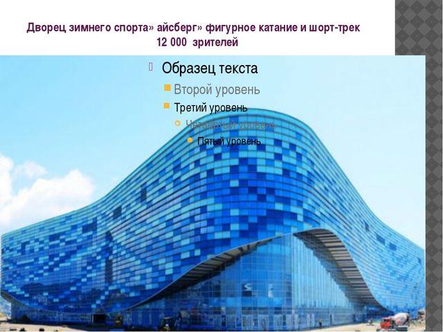 Дворец зимнего спорта» айсберг» фигурное катание и шорт-трек 12 000 зрителей