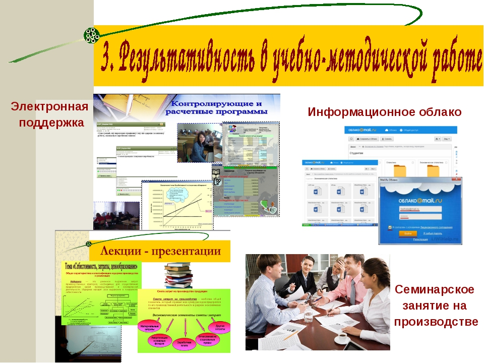 Электронная поддержка Информационное облако Семинарское занятие на производстве