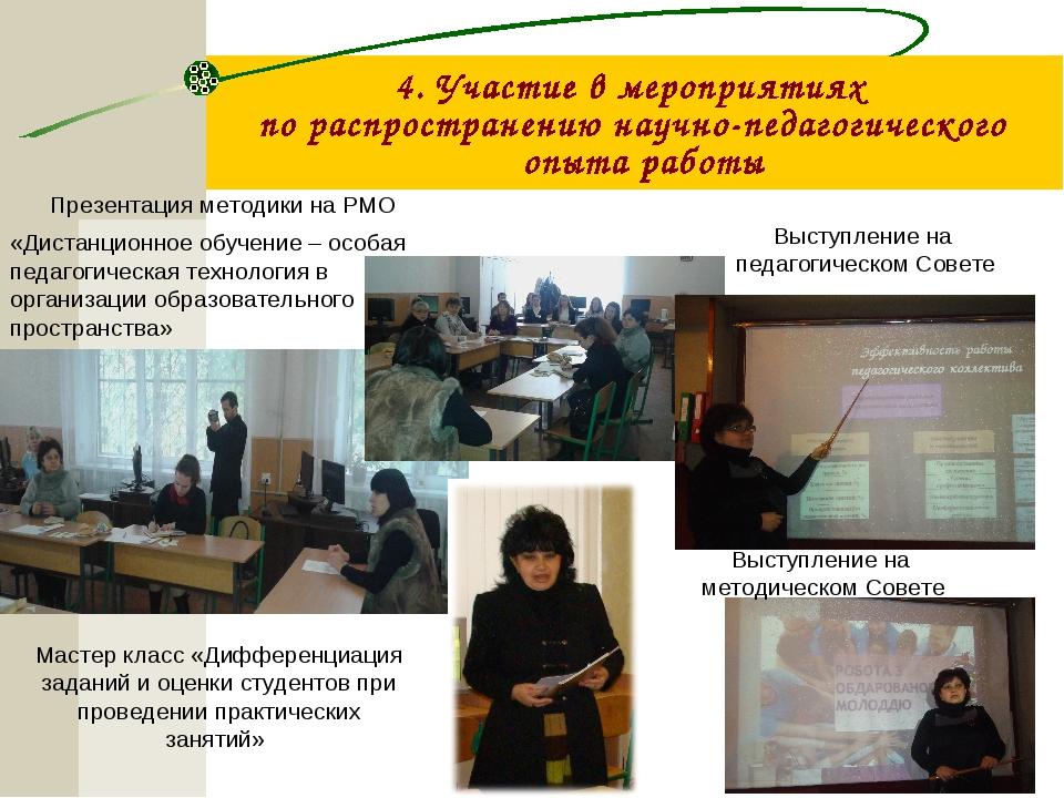 Презентация методики на РМО «Дистанционное обучение – особая педагогическая т...