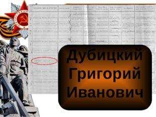 Дубицкий Григорий Иванович