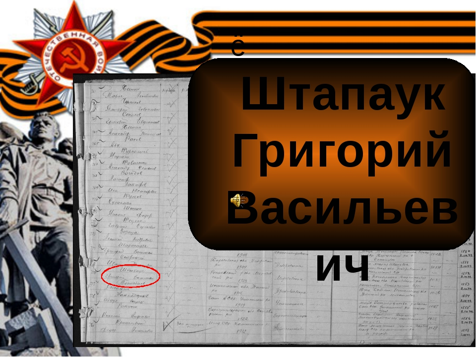ё Штапаук Григорий Васильевич