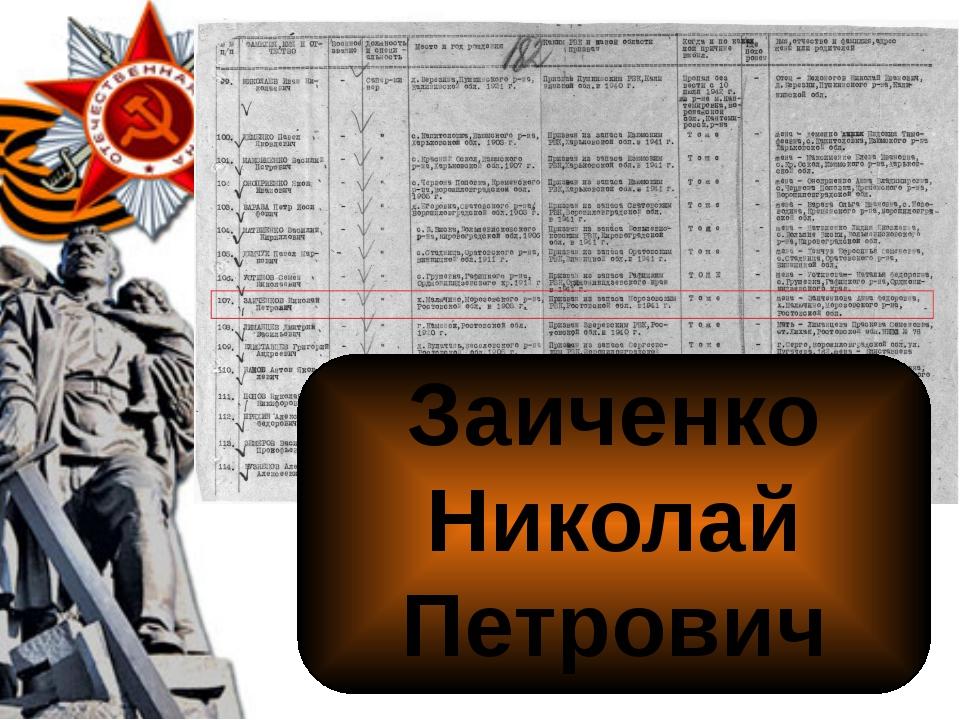 Заиченко Николай Петрович