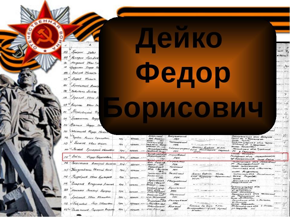 Дейко Федор Борисович