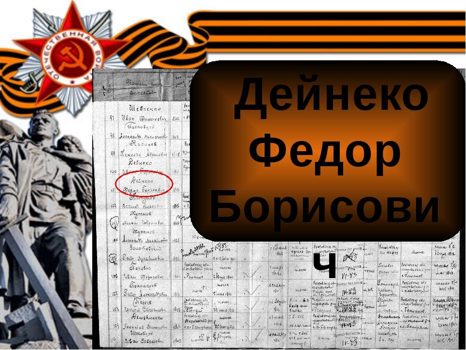 Дейнеко Федор Борисович