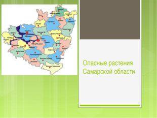 Опасные растения Самарской области
