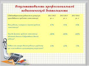 Результативность профессиональной педагогической деятельности . 9 класс 1. К
