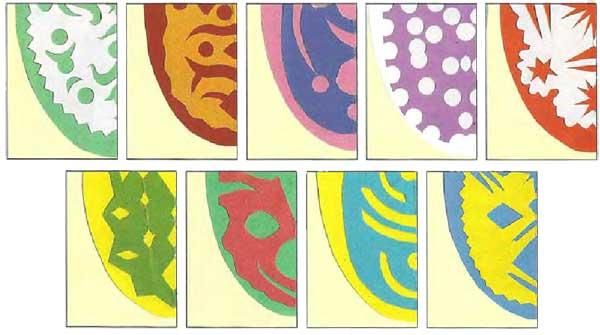 Бумажные узоры для пасхальных яиц