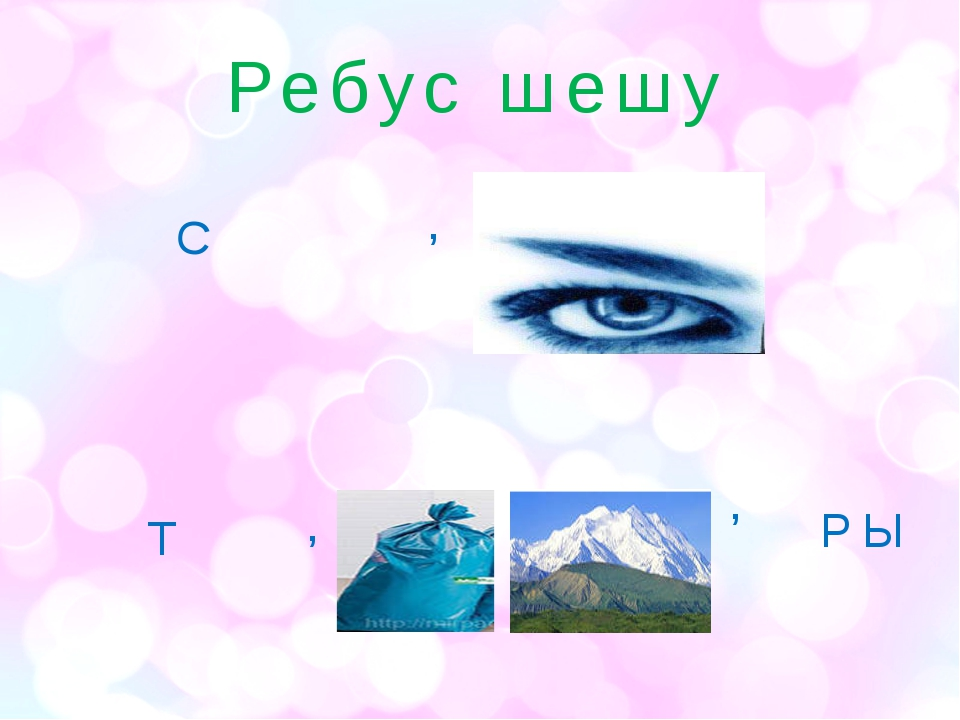 Ребус шешу С , Т , , РЫ