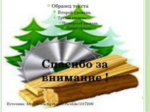 Спасибо за внимание ! Источник: http://www.myshared.ru/slide/1017298/