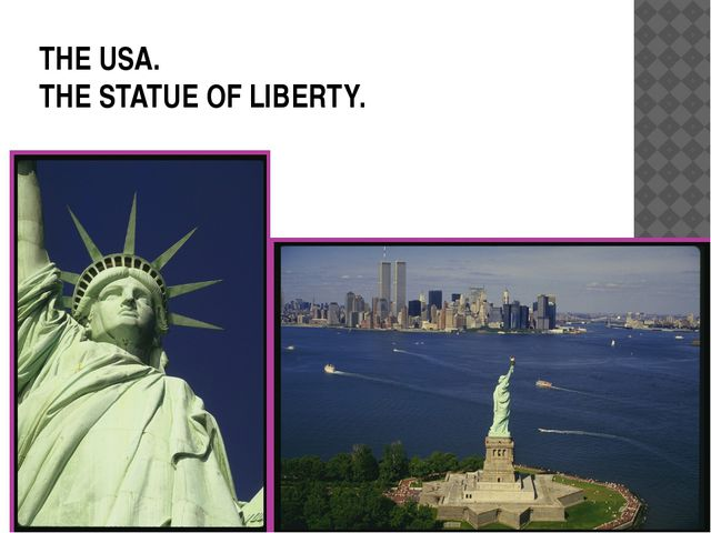THE USA. THE STATUE OF LIBERTY.