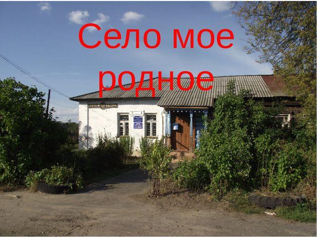 Село мое родное