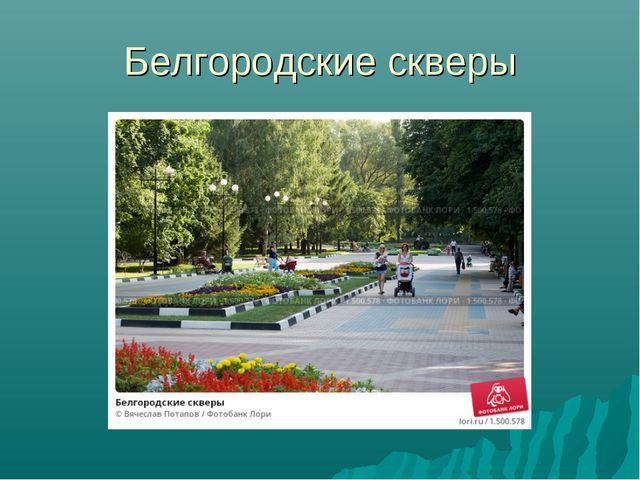 Белгородские скверы