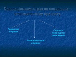 Классификация стран по социально – экономическому признаку. Развитые страны Р