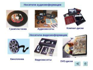 * Грампластинка Аудиокассеты Компакт-диски Носители аудиоинформации Носители