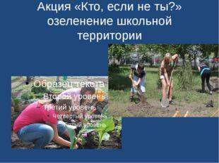 Акция «Кто, если не ты?» озеленение школьной территории