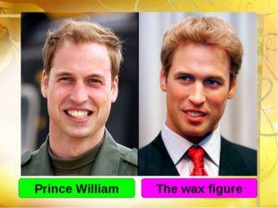 Prince William The wax figure