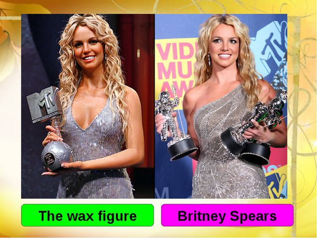 The wax figure Britney Spears