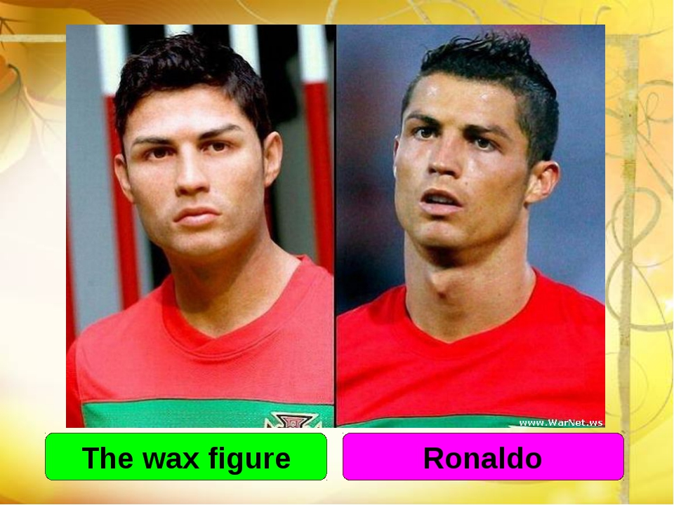 The wax figure Ronaldo