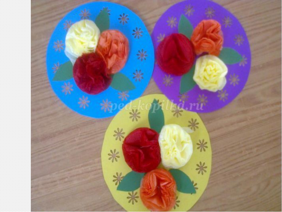 Открытки с цветами своими руками из салфеток