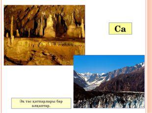 Ca Қақтың құрамында кальций карбонаты кездеседі. Сылақшы әк таспен жұмыс жаса