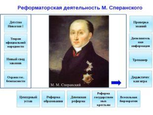 Задание №1. Какие события произошли в период правления Николая I 1) Создание