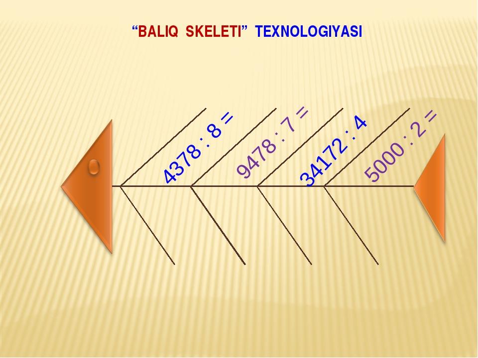 """""""BALIQ SKELETI"""" TEXNOLOGIYASI"""