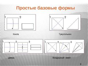 Простые базовые формы Книга Треугольник Дверь Воздушный змей