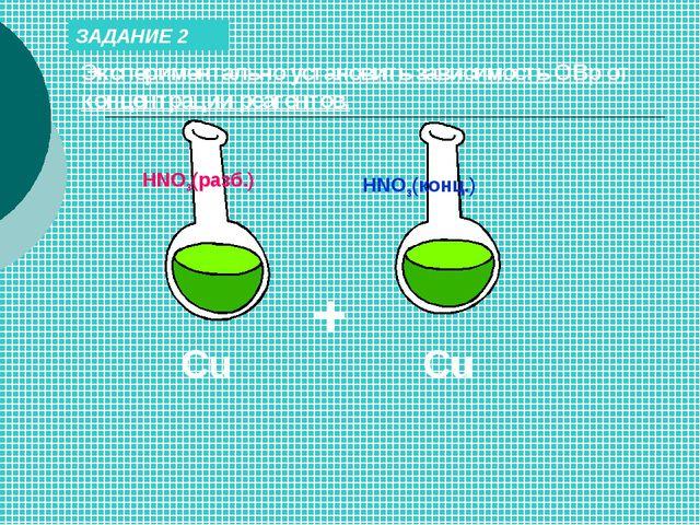 ЗАДАНИЕ 2 Экспериментально установить зависимость ОВр от концентрации реагент...