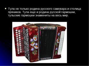 Тула не только родина русского самовара и столица пряников. Тула еще и родина