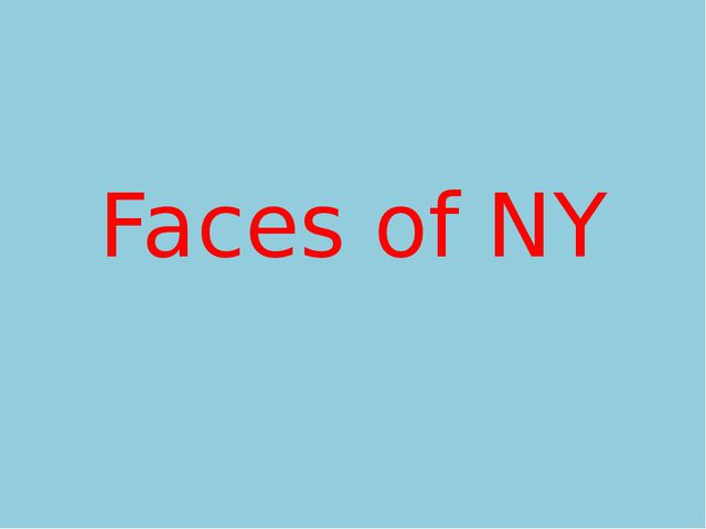 Faces of NY
