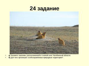 24 задание а) Назовите заказник, расположенный в степной зоне Челябинской обл