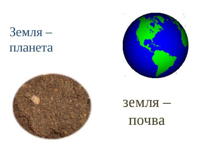 Земля – планета земля – почва